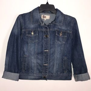 SO jean jacket size large